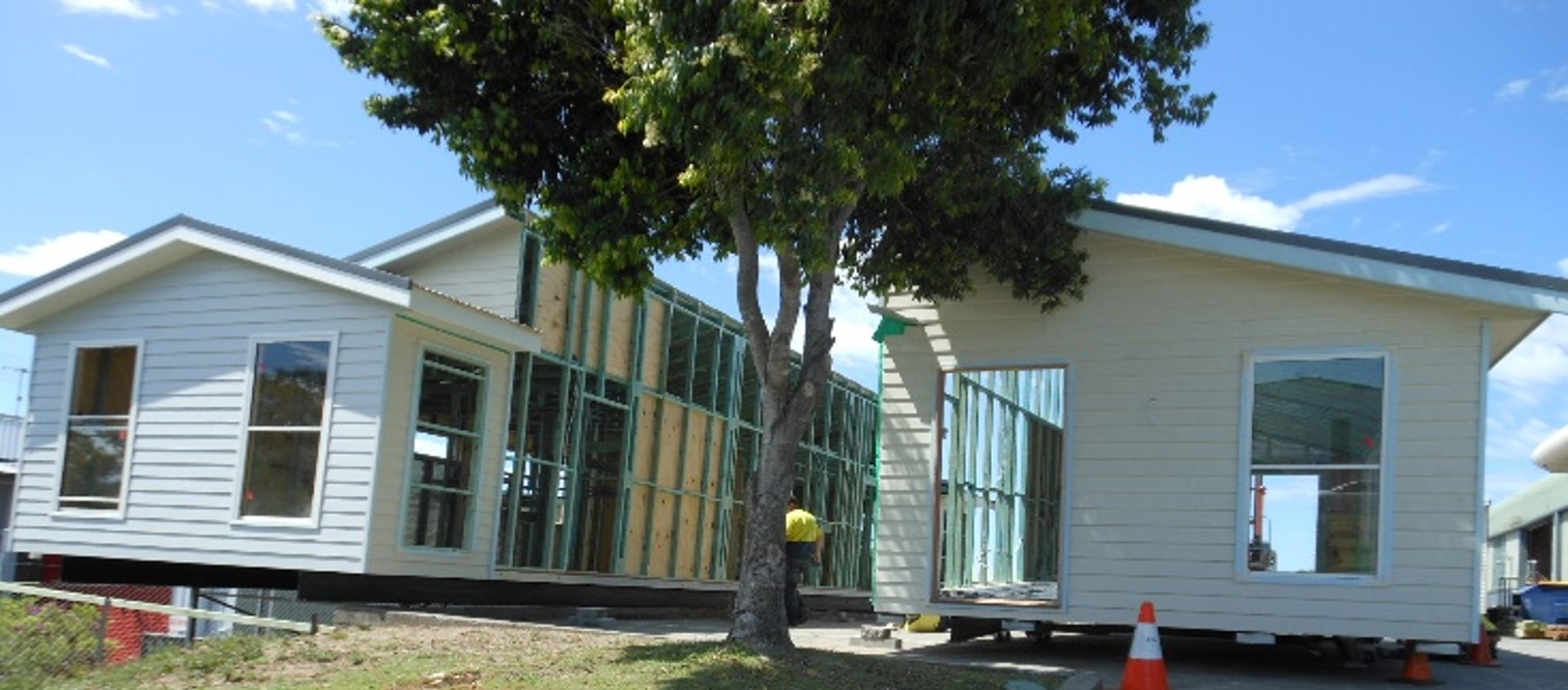 Manor modular home installation